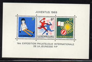 Luxembourg Sc 474 1969 JUVENTUS 1969 stamp sheet mint NH
