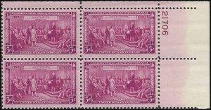 798 Mint,OG,NH... Plate Block of 4... SCV $2.00