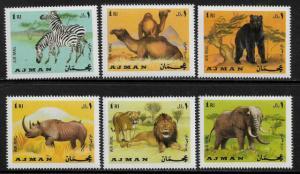Ajman Michel #412-7 MNH Set - Wild Animals
