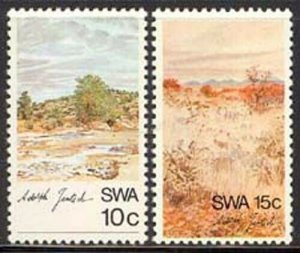 SW Africa 1973 Landscape Paintings set Sc# 338-42 NH
