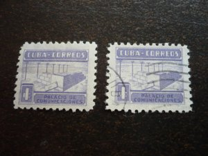 Stamps - Cuba - Scott# RA11 - Mint Hinged & Used Set of 2 Stamps