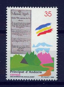 ANDORRA SPANISH 1998 MNH SC.251 Manual Digest
