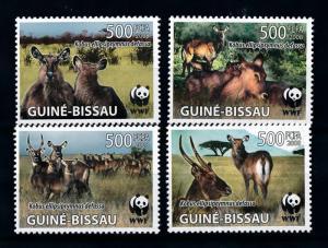 [78270] Guinea Bissau 2008 Wild Life Waterbuck WWF  MNH