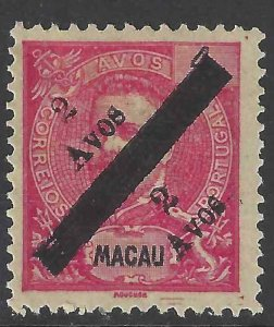 Macao 1911 SC 159d NGAI Mint SCV$ 180.00