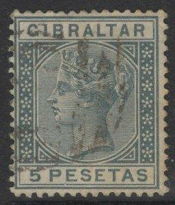 GIBRALTAR SG33 1889 5p SLATE-GREY USED