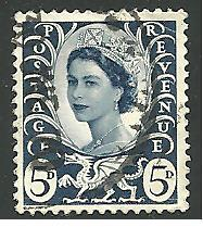 GB - Wales & Monmouthshire #11, Queen Elizabeth, Used**-