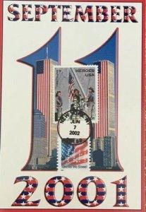 Hideaki Nakano 3620 B-2 Twin Towers 11 September 2001 on Post Card