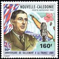 NEW CALEDONIA 1990 - Scott# C217 De Gaulle Set of 1 NH