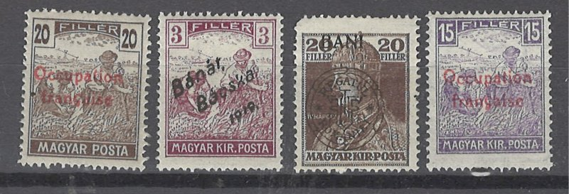 COLLECTION LOT # 2509 HUNGARY OCCUPIED 4 STAMPS (1N6-7 MNH)1919 CV+$55