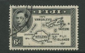 Fiji - Scott 135 - KGVI - Definitive - 1941 - Used - Single 6p - Stamp