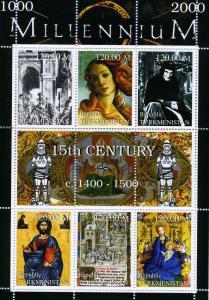 Turkmenistan 1999 MILLENNIUM 15th.Century 1400-1500 Sheet Perforated Mint (NH)
