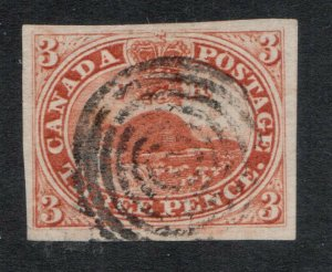 Canada #4 Very Fine Used With Four Margins