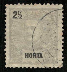 King Carlos I, Portugal, Horta 2 1/2, Rare (3846-т)
