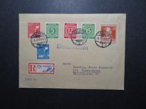 Germany 1948 Registered Cover to Baden-Baden (IV) - Z11733