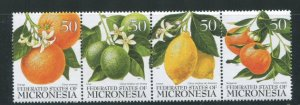 Micronesia MNH Strip 248 Citrus Fruits 1996