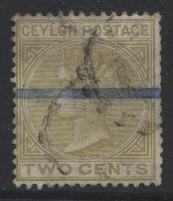 CEYLON -Scott 85 - QV - Definitive Issue -1883-Used -Single 2p Stamp5