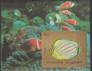FUJEIRA SHEET IMPERF MARINE LIFE FISHES