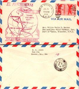 United States, New York, First Flight, Trinidad