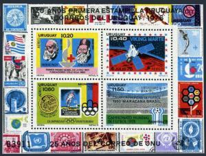 Uruguay C424 sheet,hinged.Mi 1436-1440 Bl.31. Red Cross,Space.Olympics,Soccer,