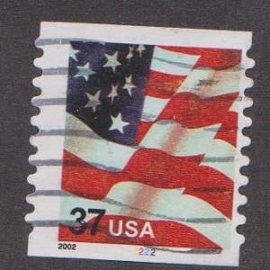 US #3632 Old Glory Used PNC Single plate #2222