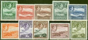 Antigua 1938 set of 10 to 5s SG98-107 V.F Very Lightly Mtd Mint