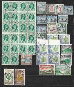 COLLECTION LOT OF 51 RHODESIA & NYASALAND 1954+ STAMPS CLEARANCE