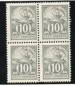 Estonia - Sc# 69 Block of (4) / 2 MNH    -      Lot 0320129