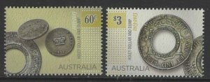 AUSTRALIA SG4082/3 2013 BICENTENARY OF HOLEY DOLLAR AND DUMP MNH
