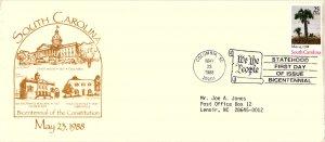 #2343 South Carolina Statehood Bicentennial - Unknown Cachet