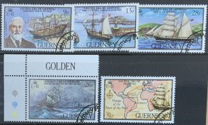 GUERNSEY 1983 SHIPPING (1st series) SG282/6 USED