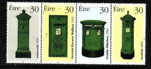 Ireland-Sc#1149a-unused NH strip-Postboxes-1998-