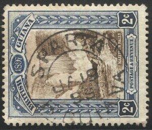 BRITISH GUIANA 1898 Sc 153, Used VF 2c  Waterfall, SOTN  SPARTA postmark cancel