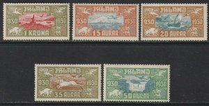 Sc# C4 / C8 Iceland 1930 Icelandic scenes airmail complete set MLMH CV $240.00