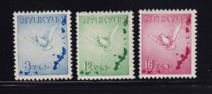 Ryukus # C1 - C3 VF OG never hinged nice color cv $ 150 ! see pic !