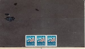 UNITED STATES 2607 MNH PLATE STRIP 3 PLATE 1111 2019 SCOTT CATALOGUE VALUE $3.55