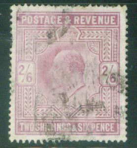 Great Britain Scott 139 KEVII  CV$140  Key to 1902 set