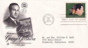 1973, Honoring George Gershwin, Art Craft, FDC (E11426)