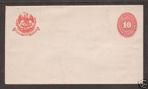 Mexico H&G B36 mint 1889-1890 10c orange red Envelope VF