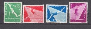 J27573 1957 romania set mh #1155-8 sports