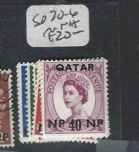 QATAR    (P2306BB)  QEII ON GB  SG 20-6   MNH