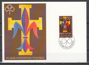 Liechtenstein, Scott cat. 711. Scouting Max. Card. First day cover.^