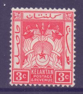 Malaya Kelantan Scott 2 - SG2, 1911 Crown CA 3c MH*