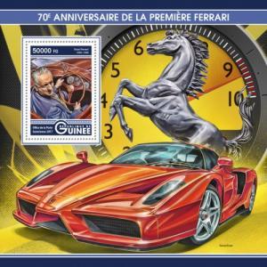 GUINEA - 2017 - 70th Anniv First Ferrari - Perf Souv Sheet - M N H