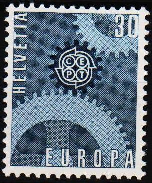 Switzerland.1967 30c S.G.745 Unmounted Mint