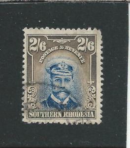 SOUTHERN RHODESIA 1924-29 2s6d BLUE & SEPIA FU SG 13 CAT £65