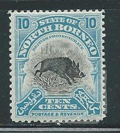 North Borneo 144 10c Wild Boar single MH