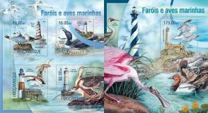 Mozambique 2013 water birds wild animals of africa kbl+s/s MNH