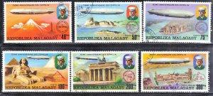 MALAGASY  SCOTT #545-48  CTO 1976  ZEPPELIN   SEE SCAN