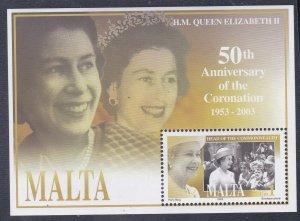 Malta # 1133, Queen Elizabeth's Coronation, 50th Anniv., Mint NH, 1/2 Cat..