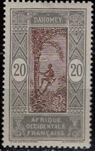 Dahomey 1913: Sc. # 51; **/MNH Single Stamp